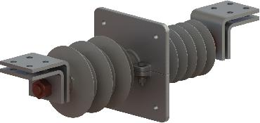 Изолятор проходной полимерный ИППУ-20/3150-12,5 УХЛ1 рисунок